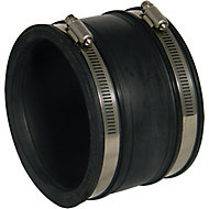 FloPlast Black Push-fit Adjustable Underground drainage Coupler (Dia)115mm