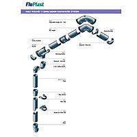 FloPlast Black Round 67.5° Gutter branch, (Dia)68mm