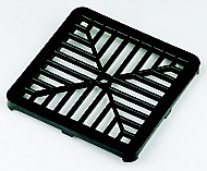 FloPlast Black Square Gutter grid (L)150mm