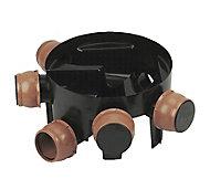 FloPlast Black Underground drainage Inspection chamber, (Dia)450mm