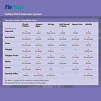 FloPlast Miniflo Black Half round Fascia Bracket (Dia)76mm, Pack of 2
