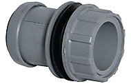 FloPlast Push-fit Straight Waste Tank connector, (Dia)40mm