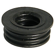 FloPlast Ring seal soil Black Boss adaptor, (Dia)40mm
