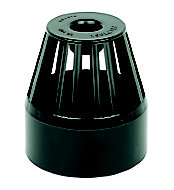 FloPlast Ring seal soil Black Solvent weld Vent terminal, (Dia)110mm