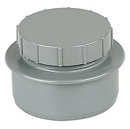 FloPlast Ring seal soil Grey Access cap, (Dia)110mm