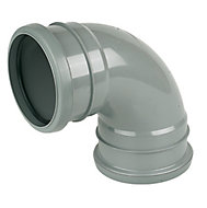 FloPlast Ring seal soil Grey Soil & vent bend, (Dia)110mm (L)133mm