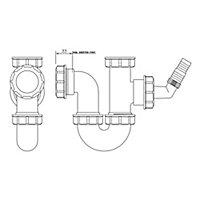 FloPlast Sink & washing machine Trap (Dia)40mm