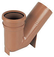 FloPlast Underground drainage Gully trap, (Dia)110mm