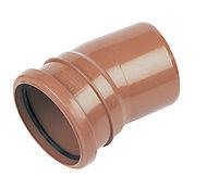 FloPlast Underground drainage Single socket Bend 285119, (Dia)110mm (L)132mm