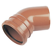 FloPlast Underground drainage Single socket Bend 285121, (Dia)110mm (L)132mm
