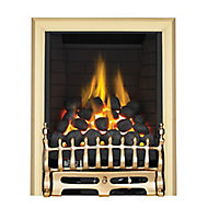 Focal Point Blenheim full depth Brass effect Gas Fire