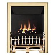 Focal Point Blenheim high efficiency Brass effect Manual control Gas Fire FPFBQ271
