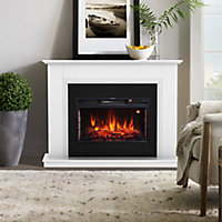 Focal Point Calbourne White Electric Fire suite