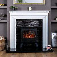 Focal Point ES3000 Black Cast iron effect Electric Stove