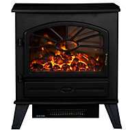 Focal Point ES3000 Black Cast iron effect Electric Stove