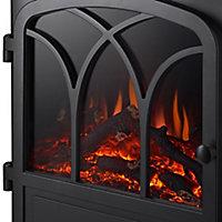 Focal Point Hurst Oak & grey Electric Fire suite