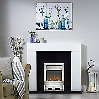 Focal Point Lulworth Brushed metal effect Electric Fire