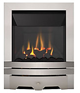 Focal Point Lulworth high efficiency Brushed stainless steel effect Manual control Gas Fire FPFBQ239