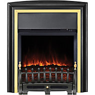 Focal Point Lycia Brass effect Electric Fire