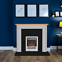 Focal Point Maine Grey & oak Fire surround