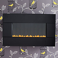 Focal Point Piano Black glass frame Black Gas Fire