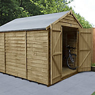 Forest Garden 10x8 Apex Pressure treated Overlap Wooden Shed with floor