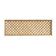 Forest Garden Diamond Dip treated Trellis panel (W)0.32m (H)1.83m