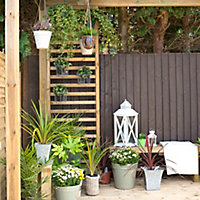 Forest Garden Dining Rectangular Pergola, (H)2800mm (W)3040mm