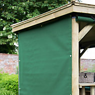 Forest Garden Green Rectangular Side curtain, (W)1.65m - Assembly not required