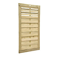 Forest Garden Kyoto Wood Slatted Gate, (H)1.8m (W)0.9m