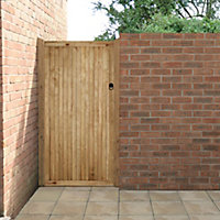 Forest Garden Noise reduction Wood Slatted Gate, (H)1.8m (W)0.9m
