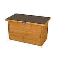 Forest Garden Overlap Wooden 3x2 Lift up sloping Garden storage box