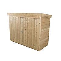 Forest Garden Overlap Wooden 6x3 Pent Garden storage