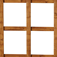 Forest Garden Traditional Square Dip treated Trellis panel (W)0.6m (H)1.83m