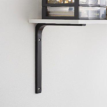 Form Alchimy Black Steel Shelving Bracket H 200mm D 150mm Tradepoint
