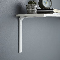Form Alchimy White Steel Shelving bracket (H)200mm (D)150mm