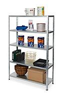 Form Axial 5 shelf Steel Shelving unit (H)1800mm (W)1200mm