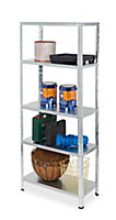 Form Axial 5 shelf Steel Shelving unit (H)1800mm (W)750mm