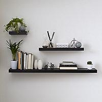 Form Cusko Black Floating shelf (L)1180mm (D)235mm