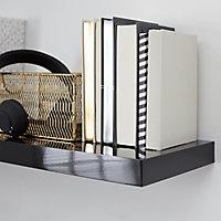 Form Cusko Gloss black Floating shelf (L)300mm (D)235mm