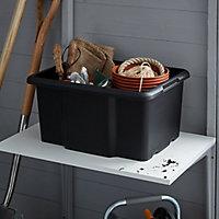 Form Fitty Black 26L Plastic Storage box