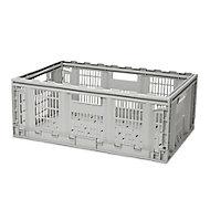 Form Foldie Heavy duty Grey 46L Polypropylene (PP) Foldable Storage crate
