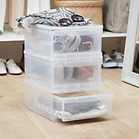 Form Kontor Clear 20L 1 drawer Stackable Drawer tower