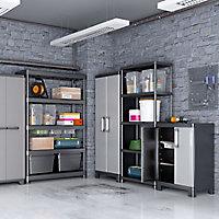 Form Links 4 shelf Polypropylene Tall Utility Storage cabinet