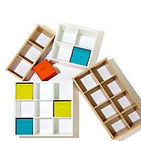 Form Mixxit Matt white 4 Cube Shelving unit (H)740mm (W)740mm (D)330mm