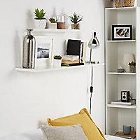 Form Rigga White Shelf (L)600mm (D)190mm