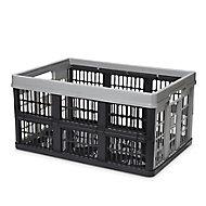 Form Stuva Black & Grey 45L Storage crate