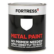 Fortress White Satin Metal paint, 0.75L