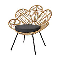 Frula Rattan effect Flower Occasional chair (H)860mm (W)840mm (D)700mm