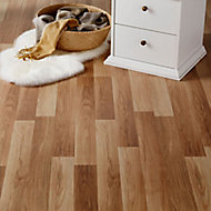 Goldcoast Natural Oak effect High-density fibreboard (HDF) Laminate Flooring Sample